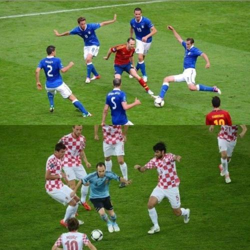 Andrés Iniesta Vs 5 Italians & Croats #magic Like Captain