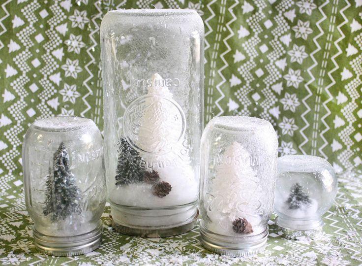 Oh Louise!: Crafty Christmas Idea - Mason Jar Snow Globes