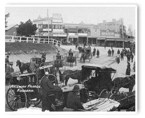 Historic #Kogarah. You can see our office on top of the hill, all the way on the left!  Where the carts are is today Kogarah Town Centre.  #LivingHereKogarah #stgeorge