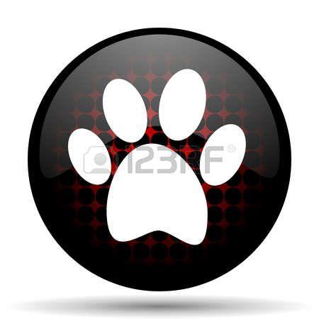 pies icono rojo brillante Web. Foto de archivo - 40524867