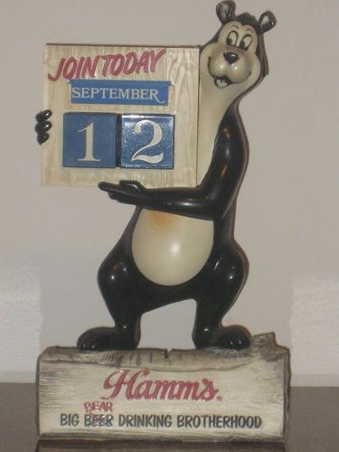 Hamm's Beer Bear Drinking Brotherhood Bank/Calendar Combination Sold for $110 in 2012