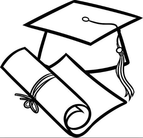 Graduation Cap Coloring Page Graduation Drawing Graduation Cap Drawing Coloring Pages