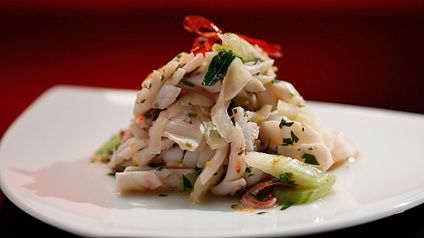 Squid with Fennel and Herb Salad