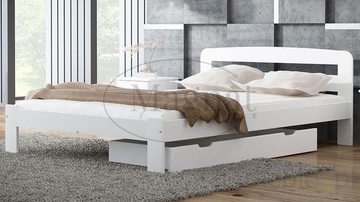 Łóżko drewniane Sara 120x200 białe, Magnat - producent mebli drewnianych i materacy - Meble