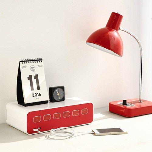 박스탭(boxtap) 전선정리형 디자인 멀티탭 USB충전형 // 42,000
