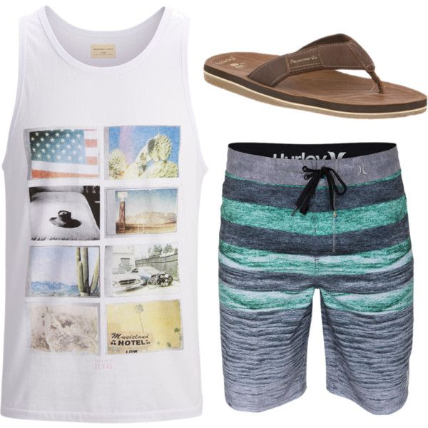 Summer lovin' with Heath! by bearpawstyle on Polyvore featuring Bearpaw and SELECTED