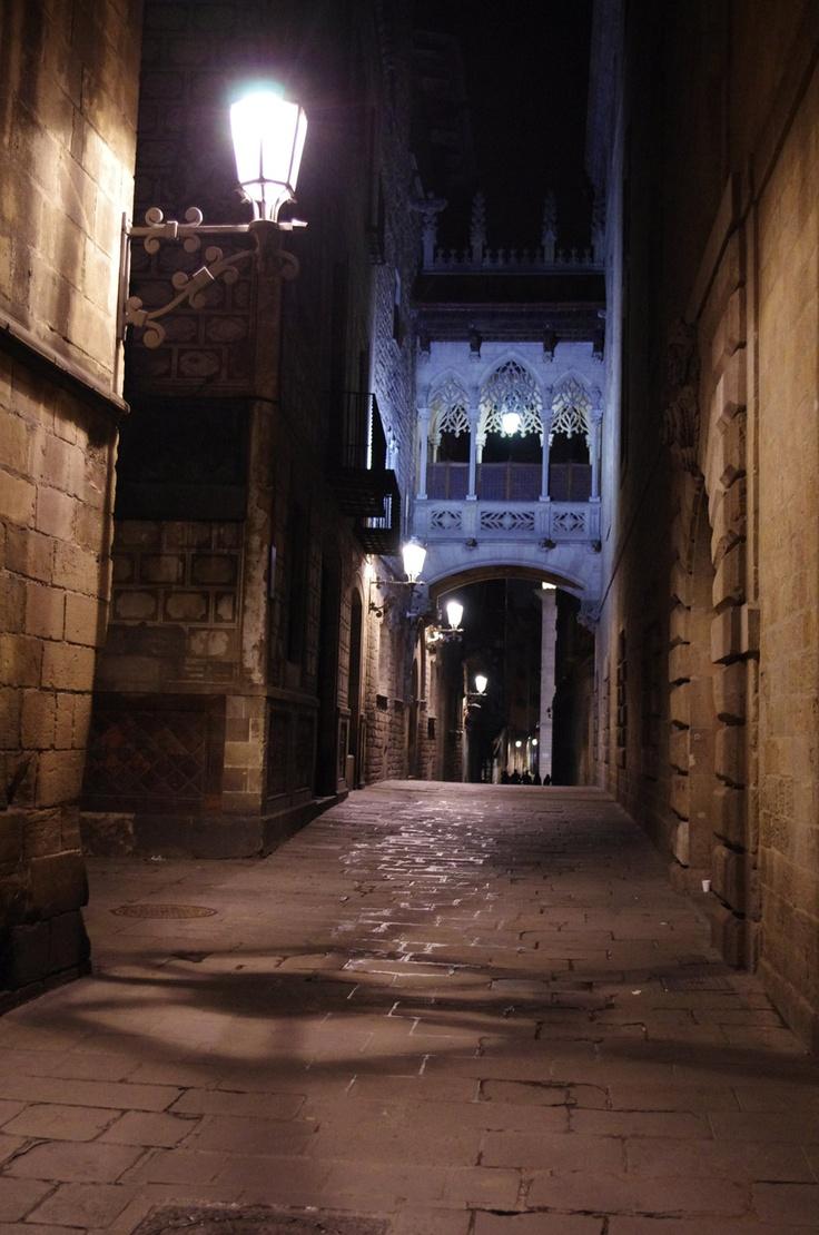 Beautiful Barcelona by night