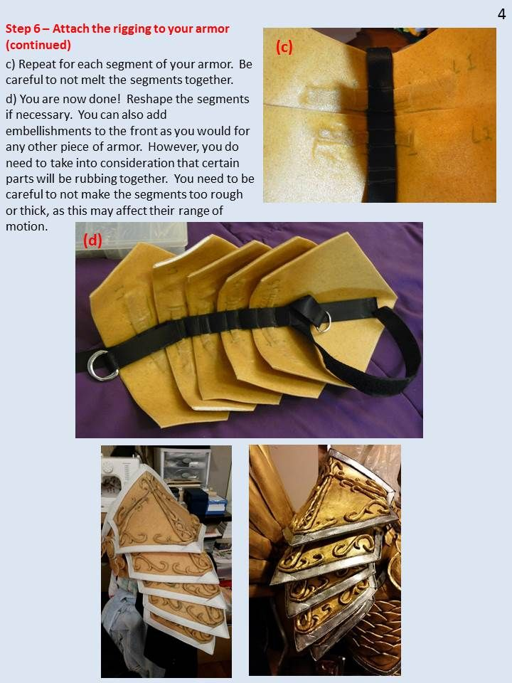 """silvericedragon: """"Another tutorial! This one tells you how to make articulated shoulder armor that bends with your arm. The shoulders were probably the most difficult piece for my Tyrael cosplay, so..."""