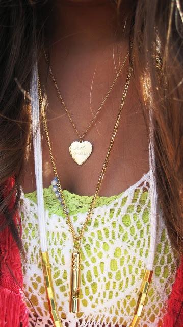 Layering neon, crochet and some hot necklaces #StylingAtCoachella #StyleHaulYT #ShopJeen