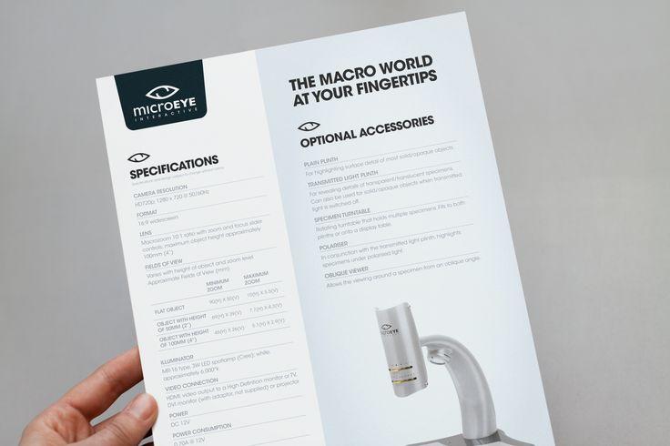 A4 information brochure design