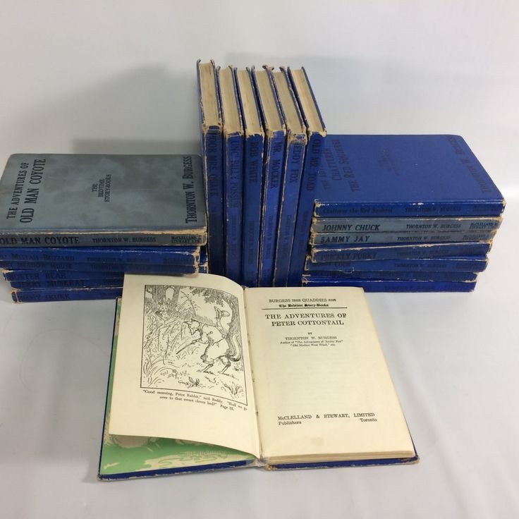 Thornton W Burgess Books Set of 20 1943 McClelland TO Canada Peter Cottontail