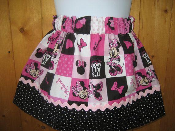 Disney skirt Minnie Mouse skirt Party skirt by dreamdesignsdiane