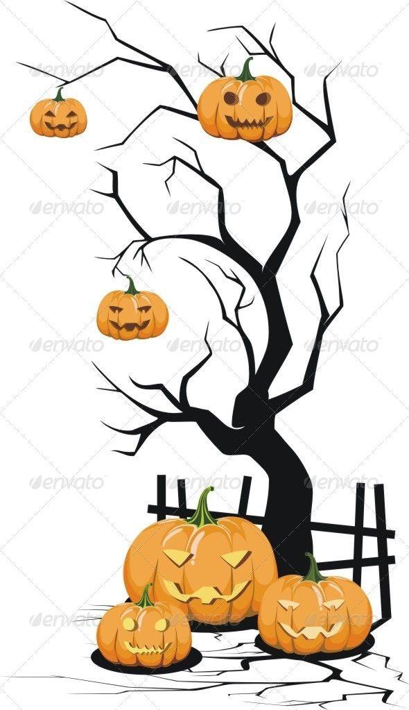 Tree on Halloween