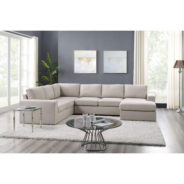 Whitnash 120 5 Large Sectional In 2020 Sectional Living Room Layout Beige Sectional Living Room Modular Sectional #u #shaped #living #room #layout