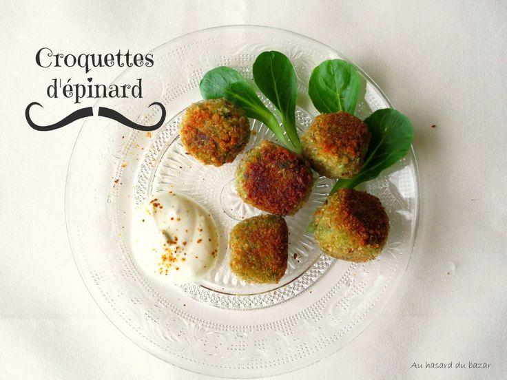 auhasarddubazar: mes croquettes d'épinard façon Top Chef