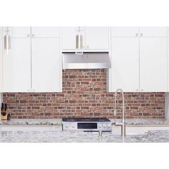 Transform Transform Red Brick Peel And Stick Wallpaper Lowes Com In 2020 Peel And Stick Wallpaper Red Brick Wallpaper Red Bricks