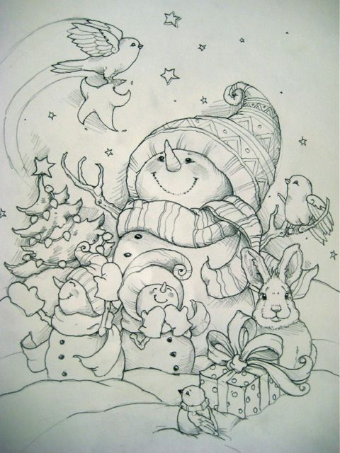 .Christmas Coloring Pages