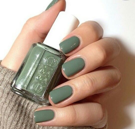 Essie Sew Psyched - it's a weird mossy shade but I totally dig it