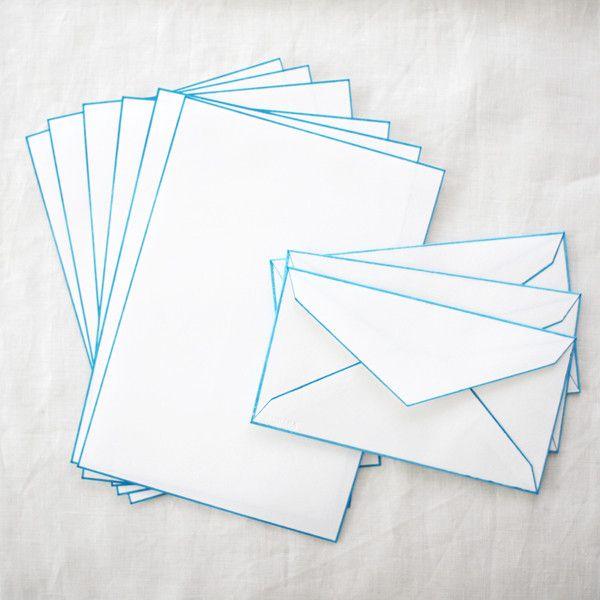 HAIBARA Colour Rimmed Washi Letter Sets | UGUiSU Online Store