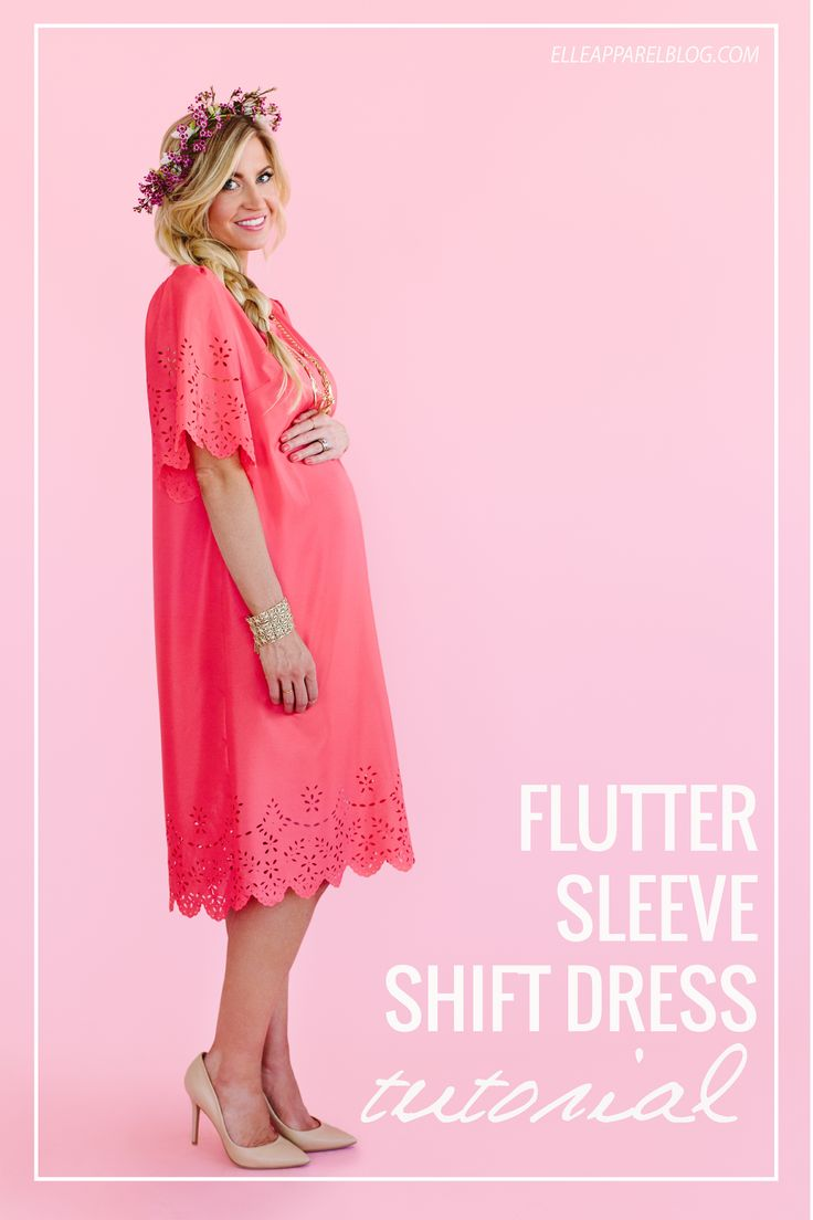 1552 best dresses diy images on pinterest clothing sew and flutter sleeve shift dress tutorial ombrellifo Images