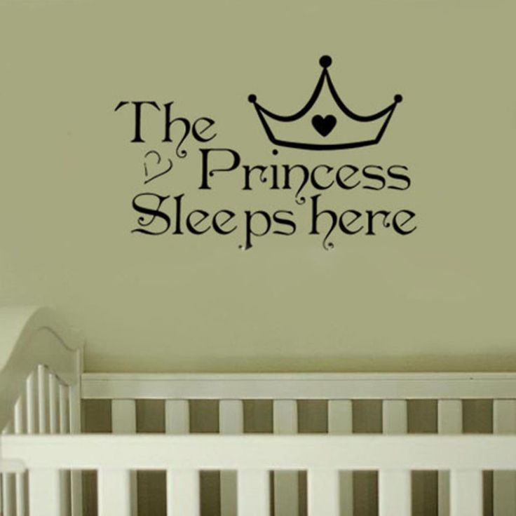 The Princess Sleeps Here Crown Wall Sticker //Price: $6.18 & FREE Shipping //     #housedecoration