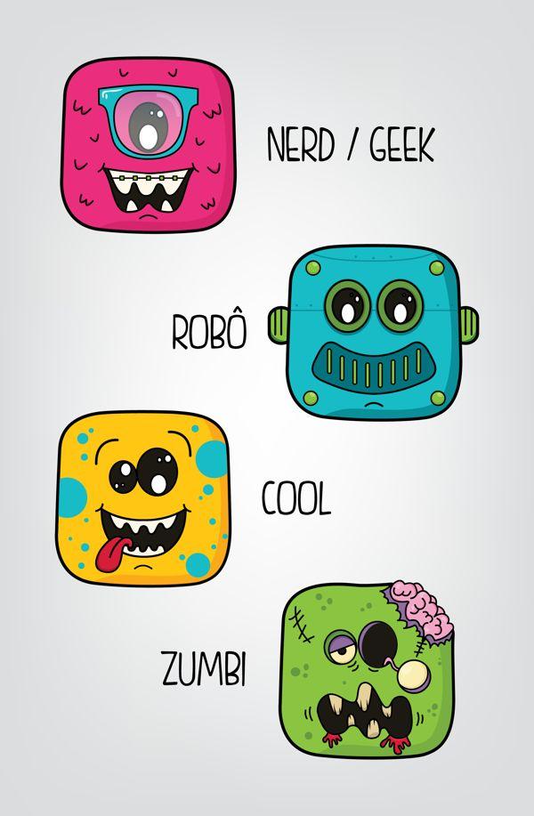 Mascotes para Funtilidades Store #branding #graphicdesign #illustration #fun