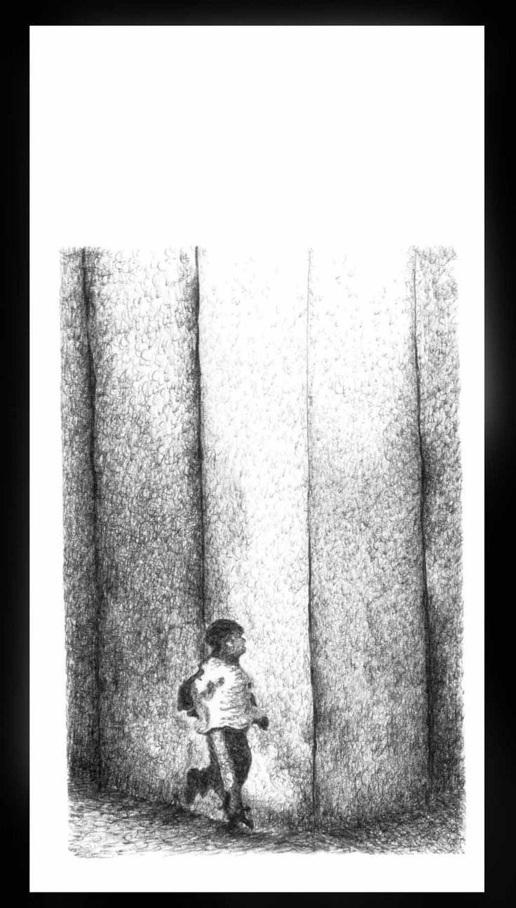 De la Serie Momentos de la Infancia. Esfero sobre papel