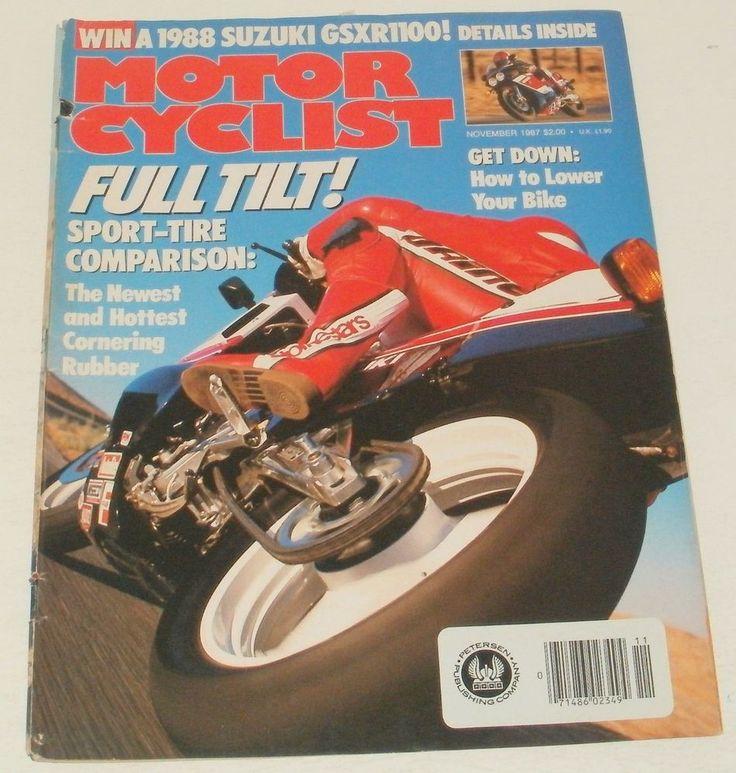 Motorcyclist Magazine Full Tilt Sport Tire Comparison November 1987