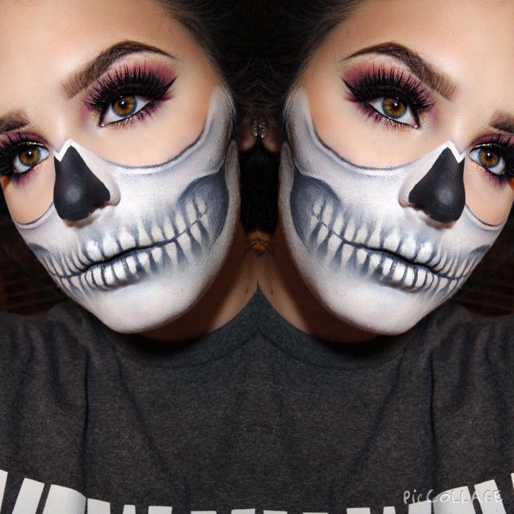 Half skull @makeupbymeritt