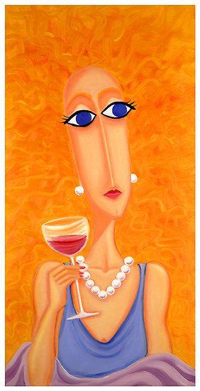 """Life is Beautiful"" by Sharon Geisen Hayes #wine #art"