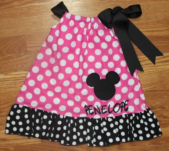 Minnie Mouse Disney Pillowcase Dress by AmysKreations2014 on Etsy & 168 best Pillow Case Dresses images on Pinterest   Pillowcase ... pillowsntoast.com