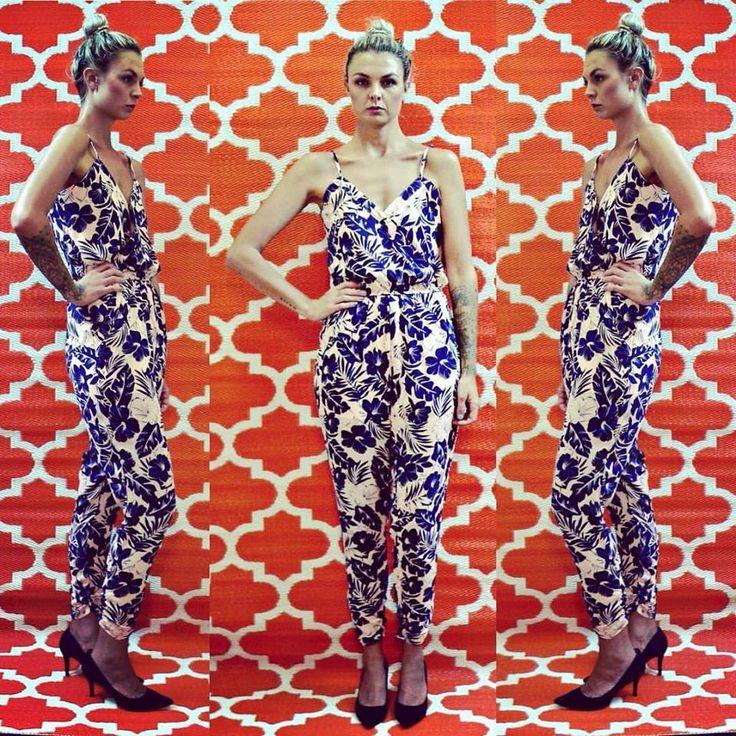 jumpsuit, floral, www.courtandspark.com.au