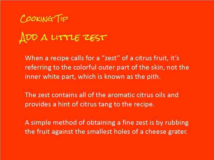 adding zest to food, explained