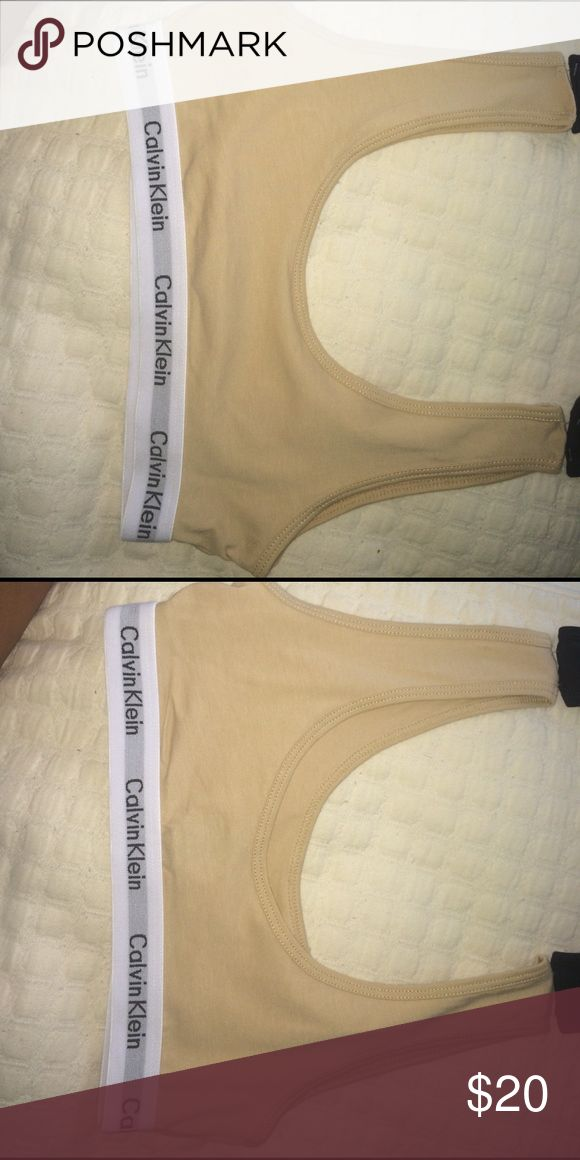 Girls Calvin Klein nude sports bra Very pretty!!!😍😍😍 but it doesn't fit me:(((( New but no tags Calvin Klein Intimates & Sleepwear Bras