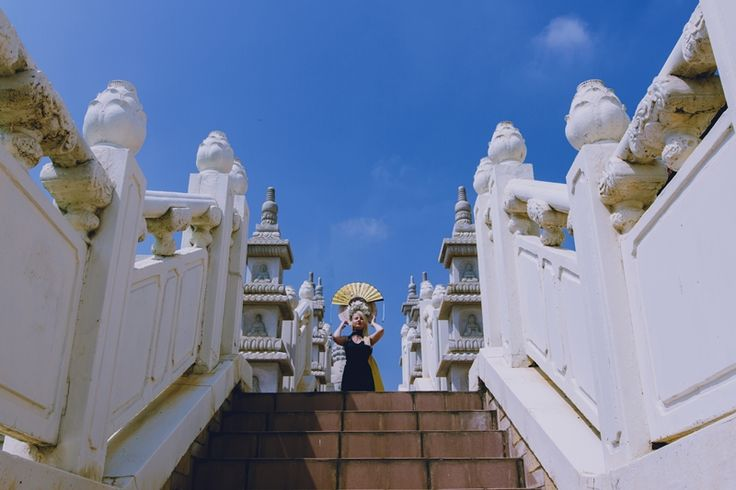 photo shoot at largest Buddhist temple in Africa