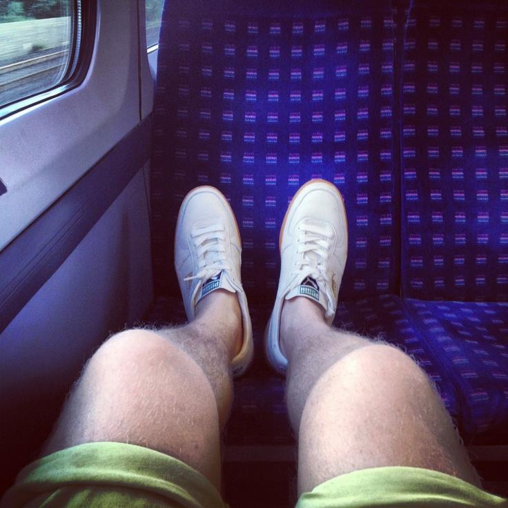 #shoesinsitu Pumas on a Train