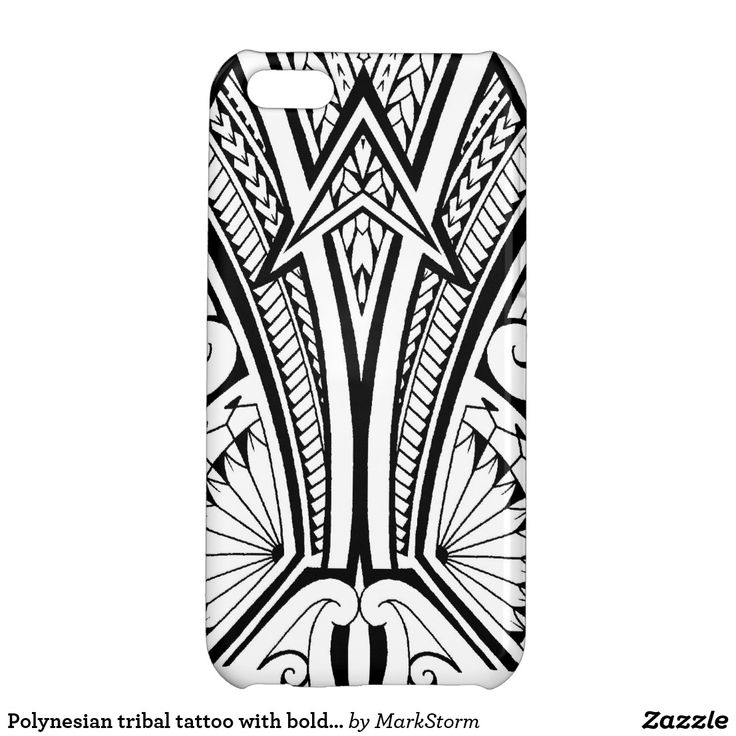 Polynesian tribal tattoo with bold patterns iPhone 5C cases