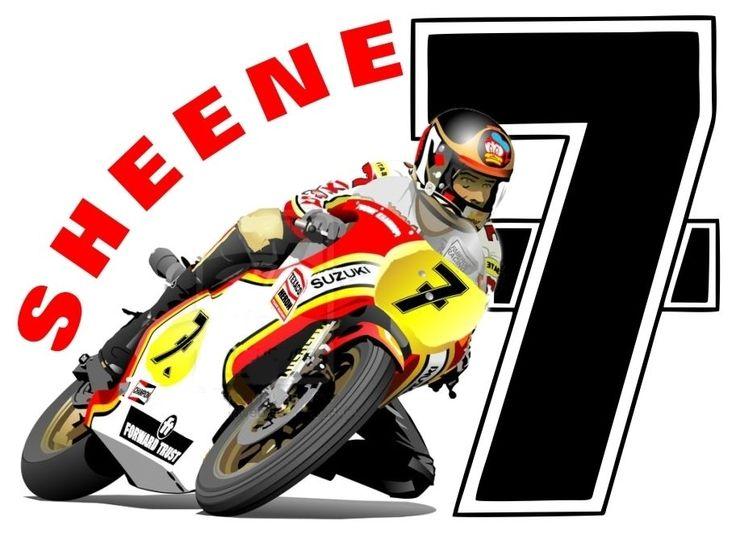 BARRY SHEENE 7 SUZUKI BIKE T-SHIRT T SHIRTs NO SEVEN RACING BIKER MOTOR MOTO GP