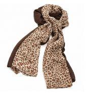 animal print scarf set
