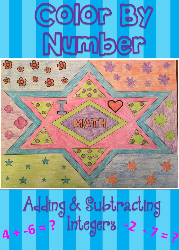 This coloring activity is so much fun, and your students will love it! It's a combination of practicing adding and subtracting integers with coloring. This activity will help solidify their basic addition and subtraction skills.