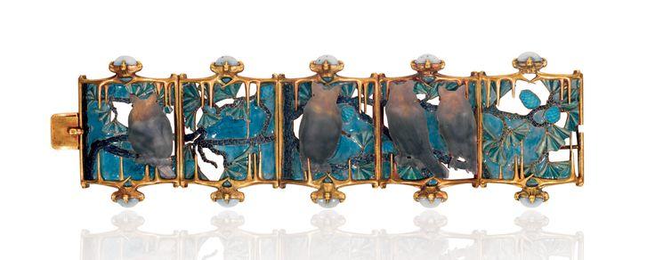 Gufi {Owls Bracelet, René Lalique, 1900-1901}