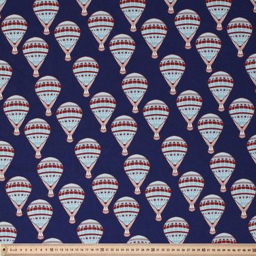 1950S Vintage Ball Cotton Poplin Navy 112 cm | Spotlight Australia