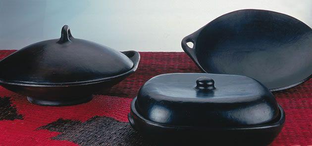 Bandejas de ceramica de La Chamba Colombia