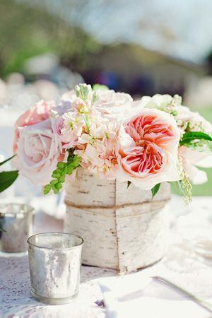 birch bark centerpieces: Inspiration, Garden Party, Wedding Ideas, Weddings, Pink Centerpieces, Garden Parties, Gorgeous Pink