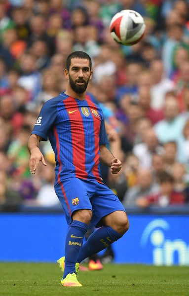 Arda Turan of Barcelona during the International Champions Cup series match between Barcelona and Celtic at Aviva Stadium on July 30,…