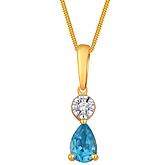 G Divas 18KY Gold Pendant With 0.01CT Diamonds
