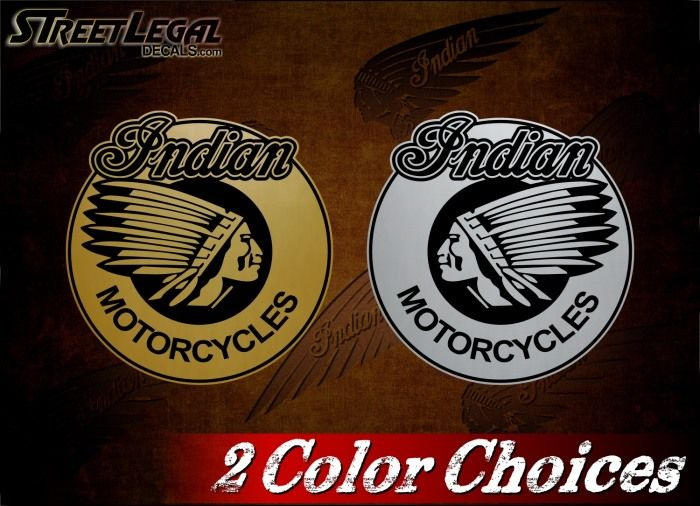 2 Indian Motorcycle Scout Vinyl Decals