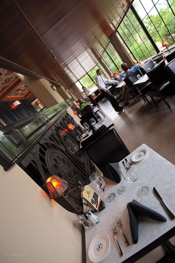 Maynard's Market & Kitchen is located in a restored train depot.  Its dark ambiance makes it the perfect date spot.