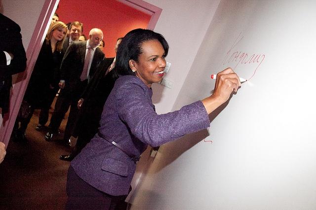 Condoleezza Rice's visit to SKOLKOVO