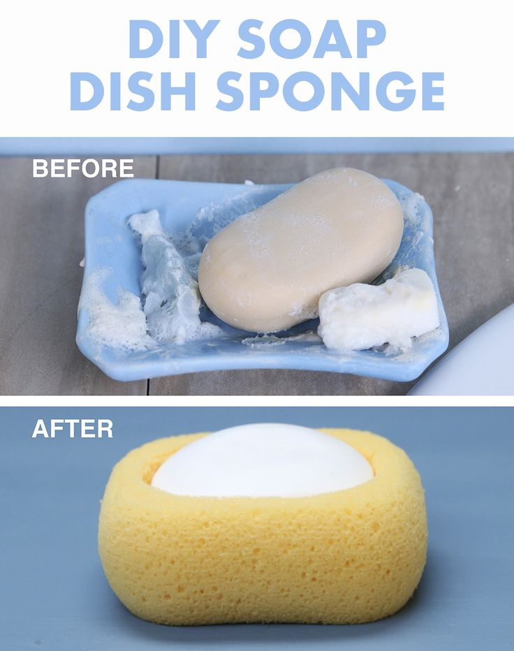 Use every last bit of bar soap with this clever sponge soap dish.